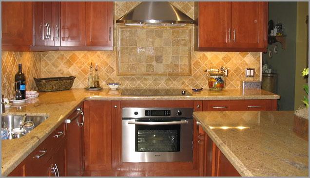 Gold Kitchen, Gold Kitchens Madura Gold Granite
